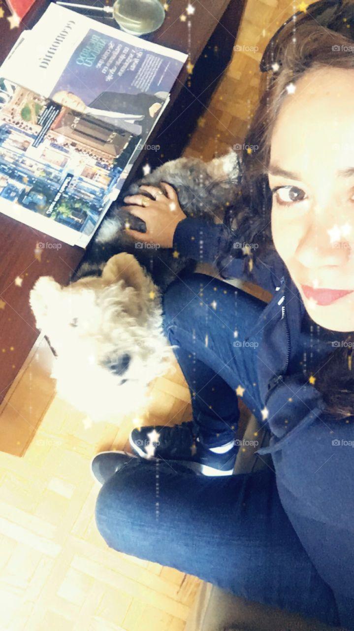 Con mi perrito