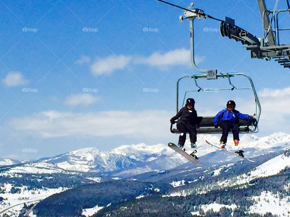 Chillin with anticipation on the lift