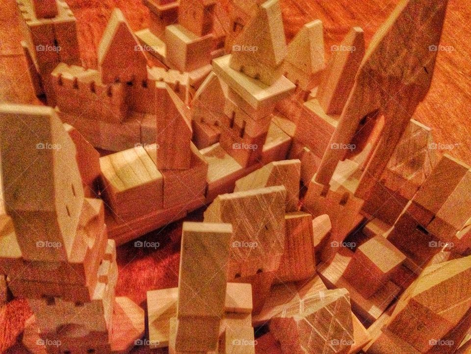 Classic Wooden Building Blocks