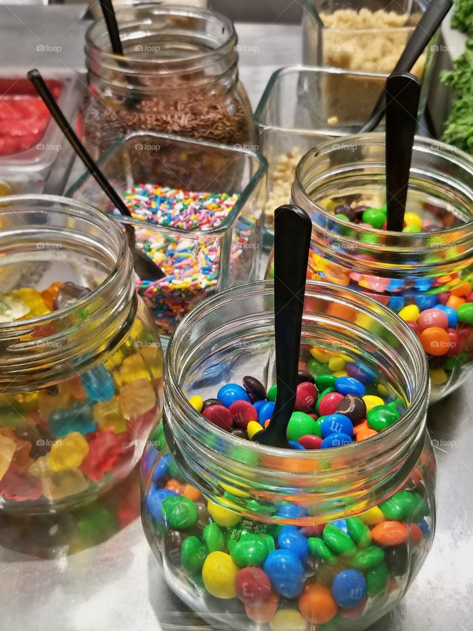 Assortment or toppings for Ice cream