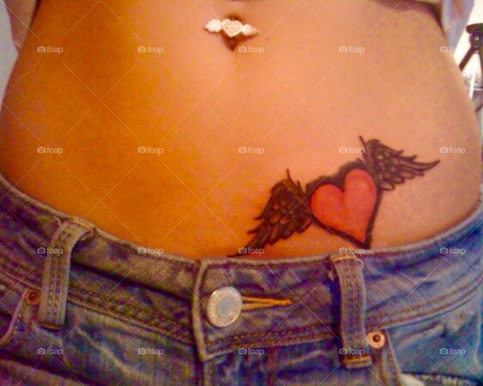 Tattooed tummy