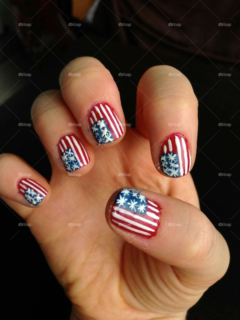 4th of July ready nails