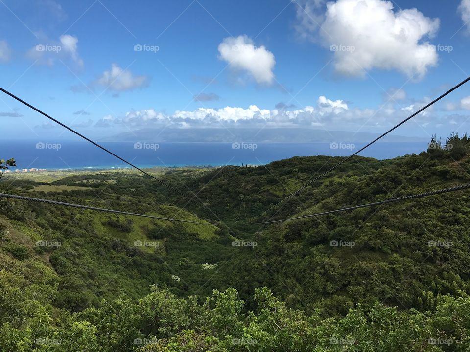 Zip line in Kapalua
