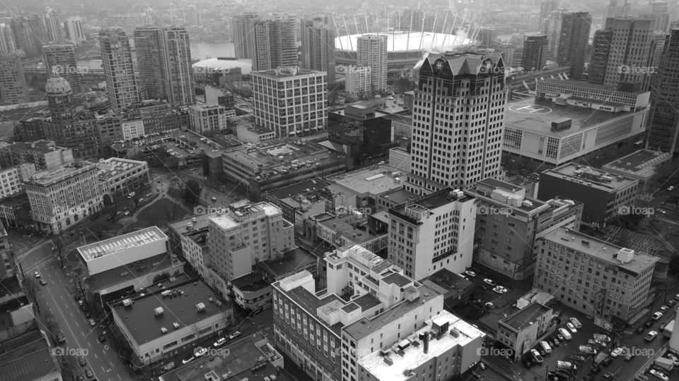 Vancouver city, seen from above.