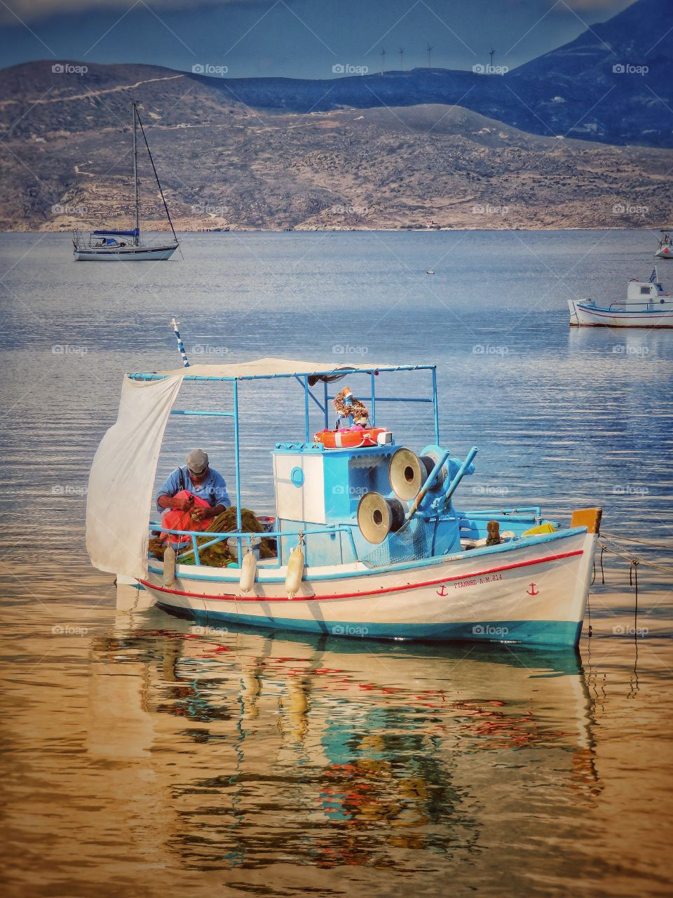 Greek fisherman Cyclades