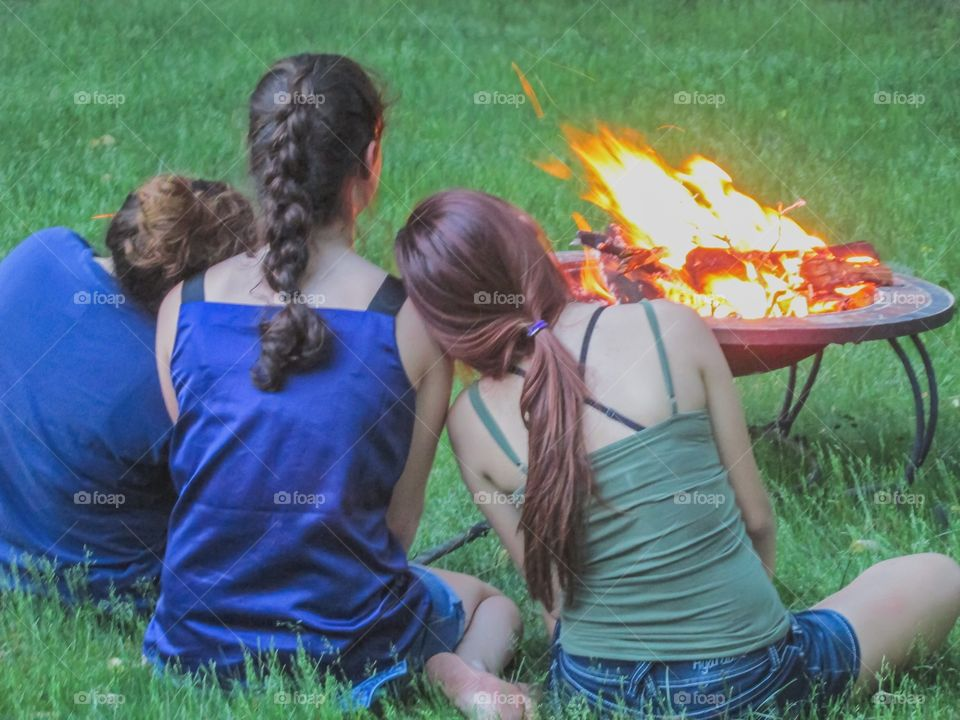 Warmth of fire and friendship