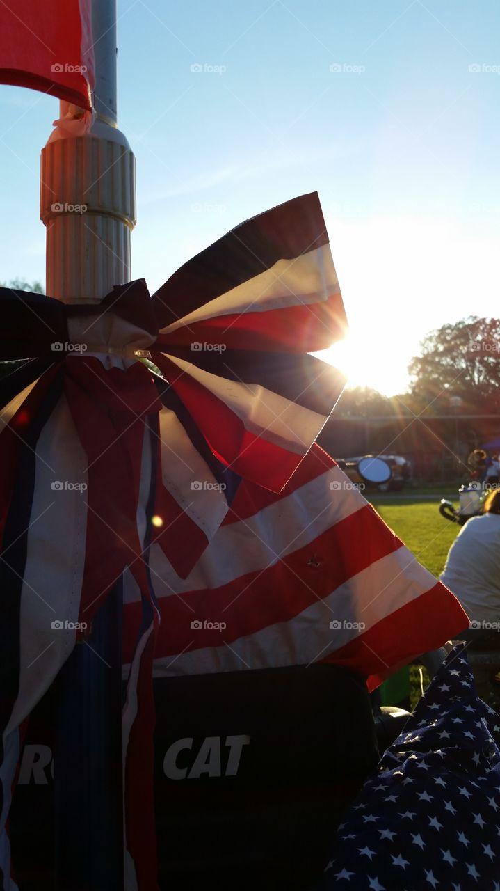 patriotic. patriotic flag bow