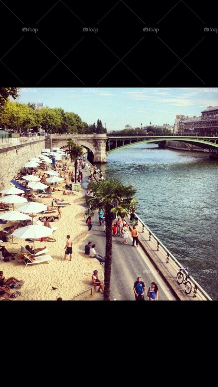 River-beach