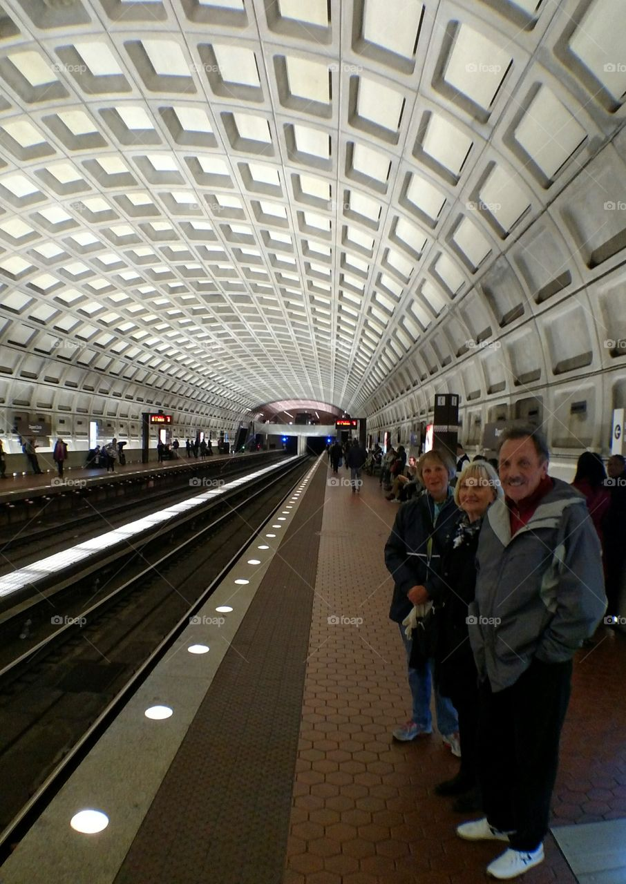 Metro station in Washington