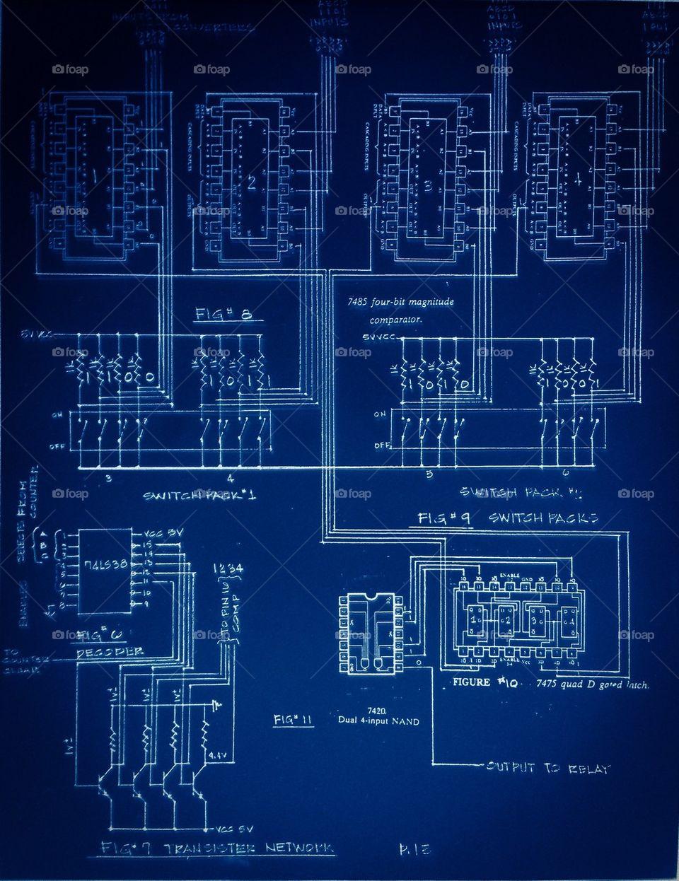 Foap.com: Circuit board blueprint stock photo by mikehutch40