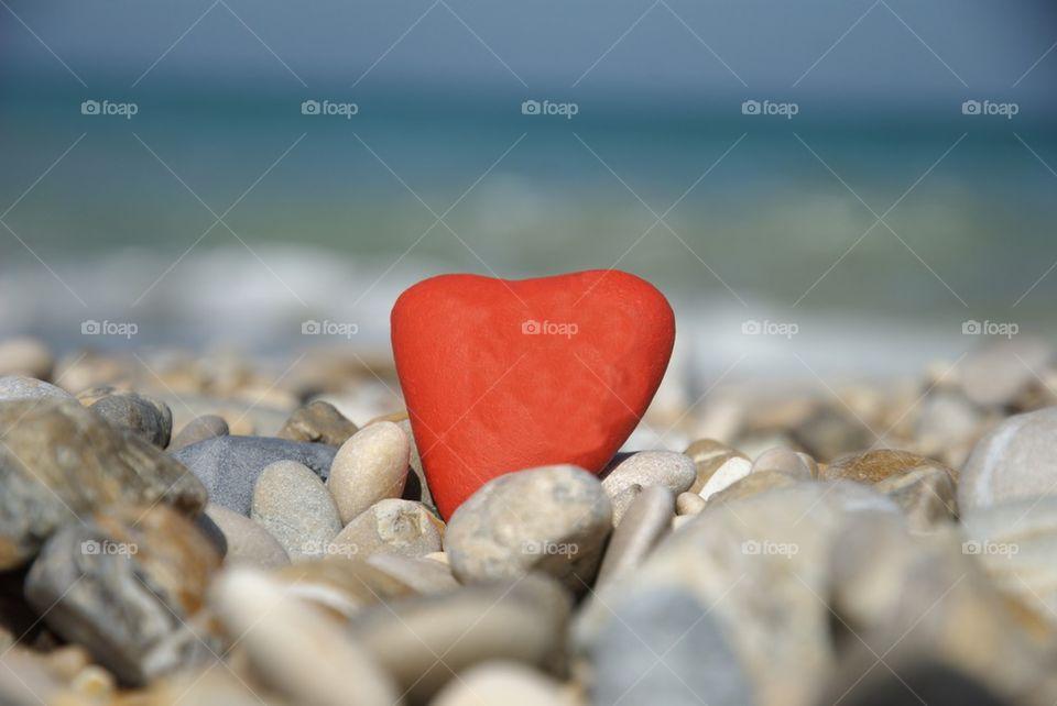 Heart shape pebble