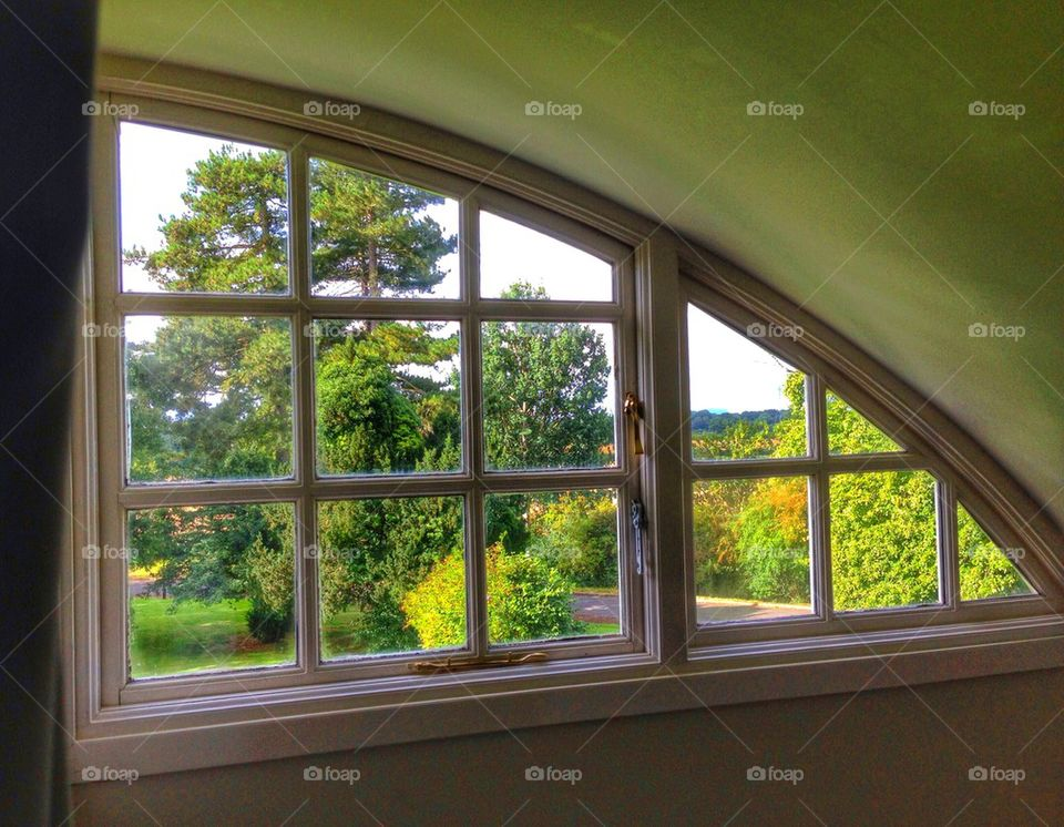 Room with a view over the countryside!