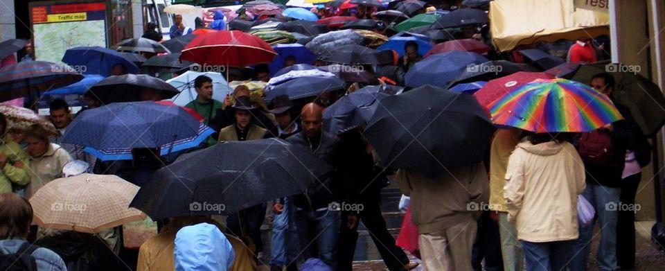 Umbrellas in Prague.