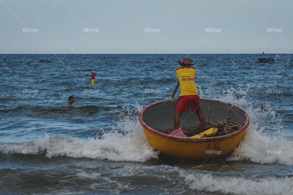 Lifeguard duty in Da Nang, Vietnam