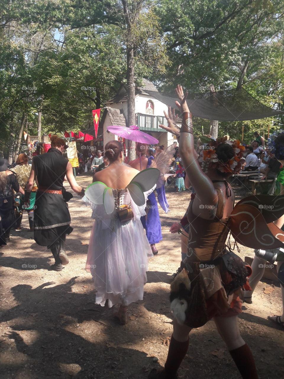 Renaissance Festival Fairies Dancing