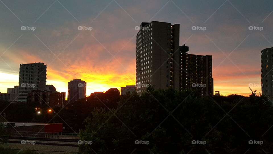Red line sunrise