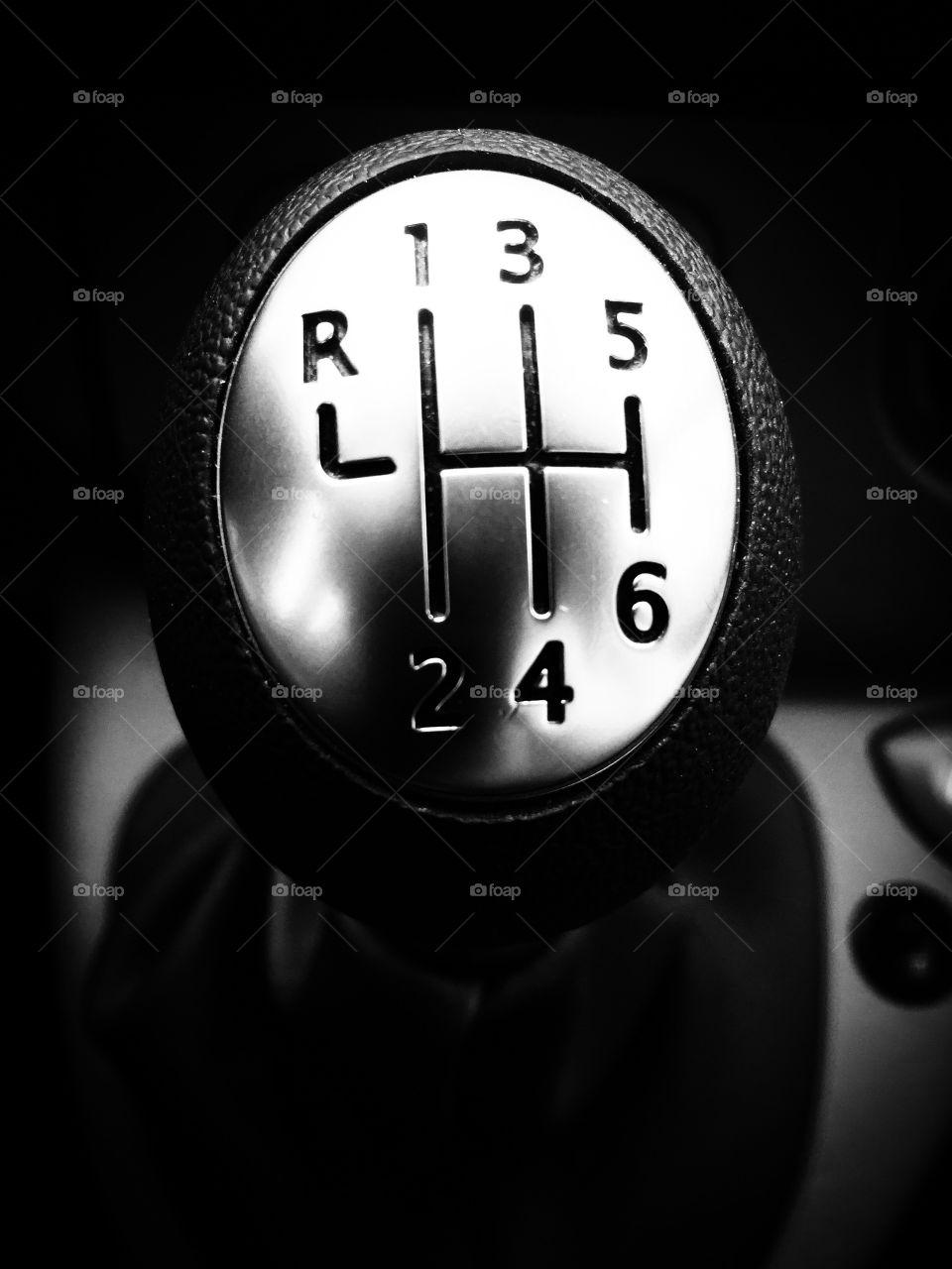 Gear knob. Gear knob