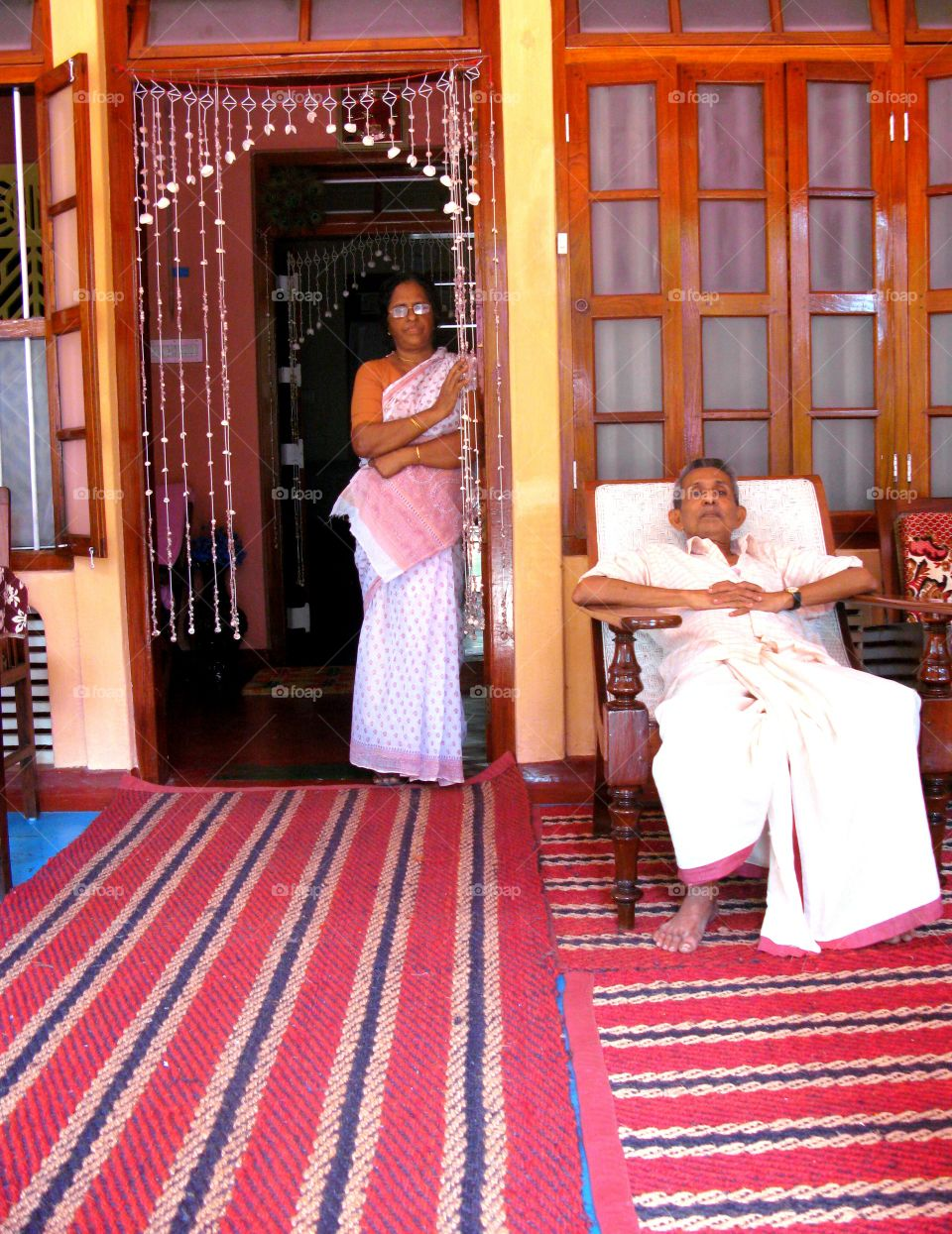 Indian charming couple in Allepey, Kerala, South India