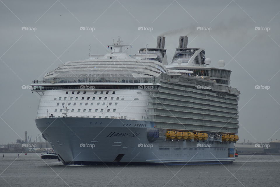 The bigest cruiseship in the world, the Harmony of seas.