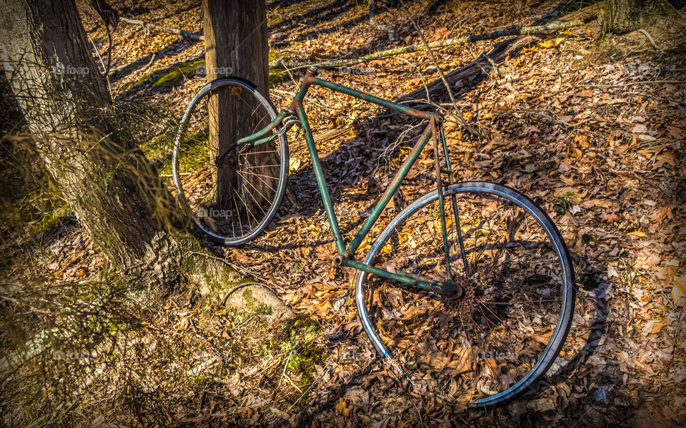 Bike. Old rusty bike I rolled up on doing a shoot one day, thought id make a good HDR image.