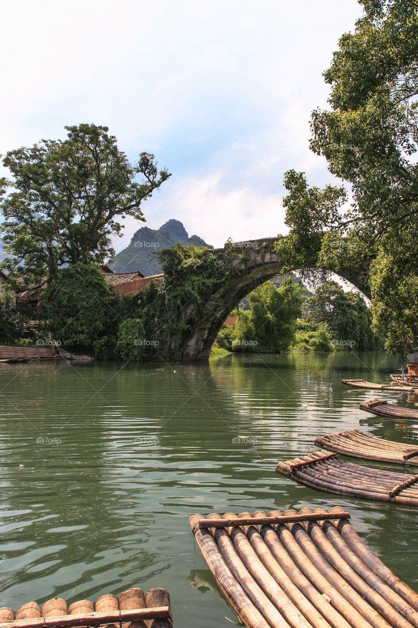 Ancient Chinese bridge