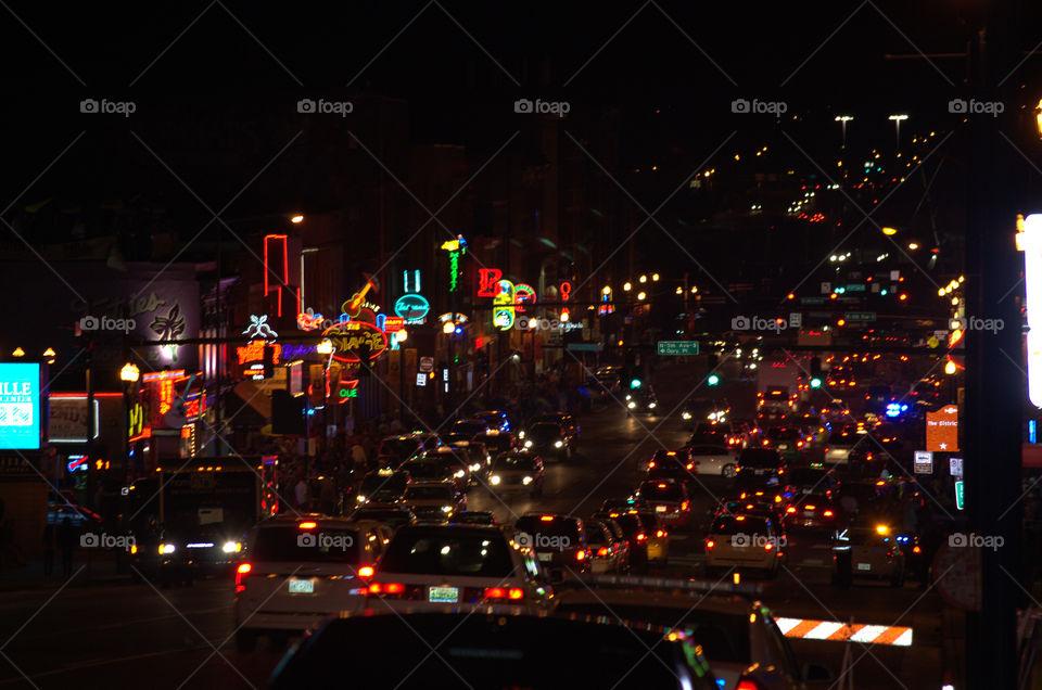 night life. nashville night view
