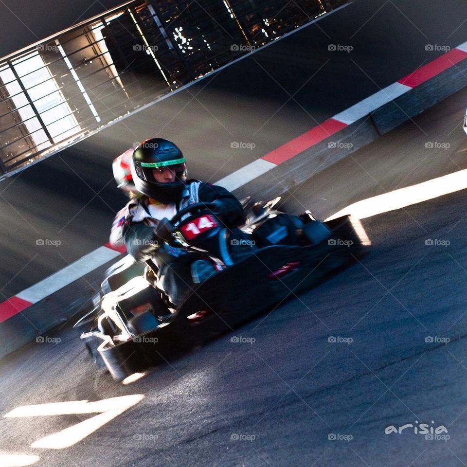 driving speed lighting race by nmorph