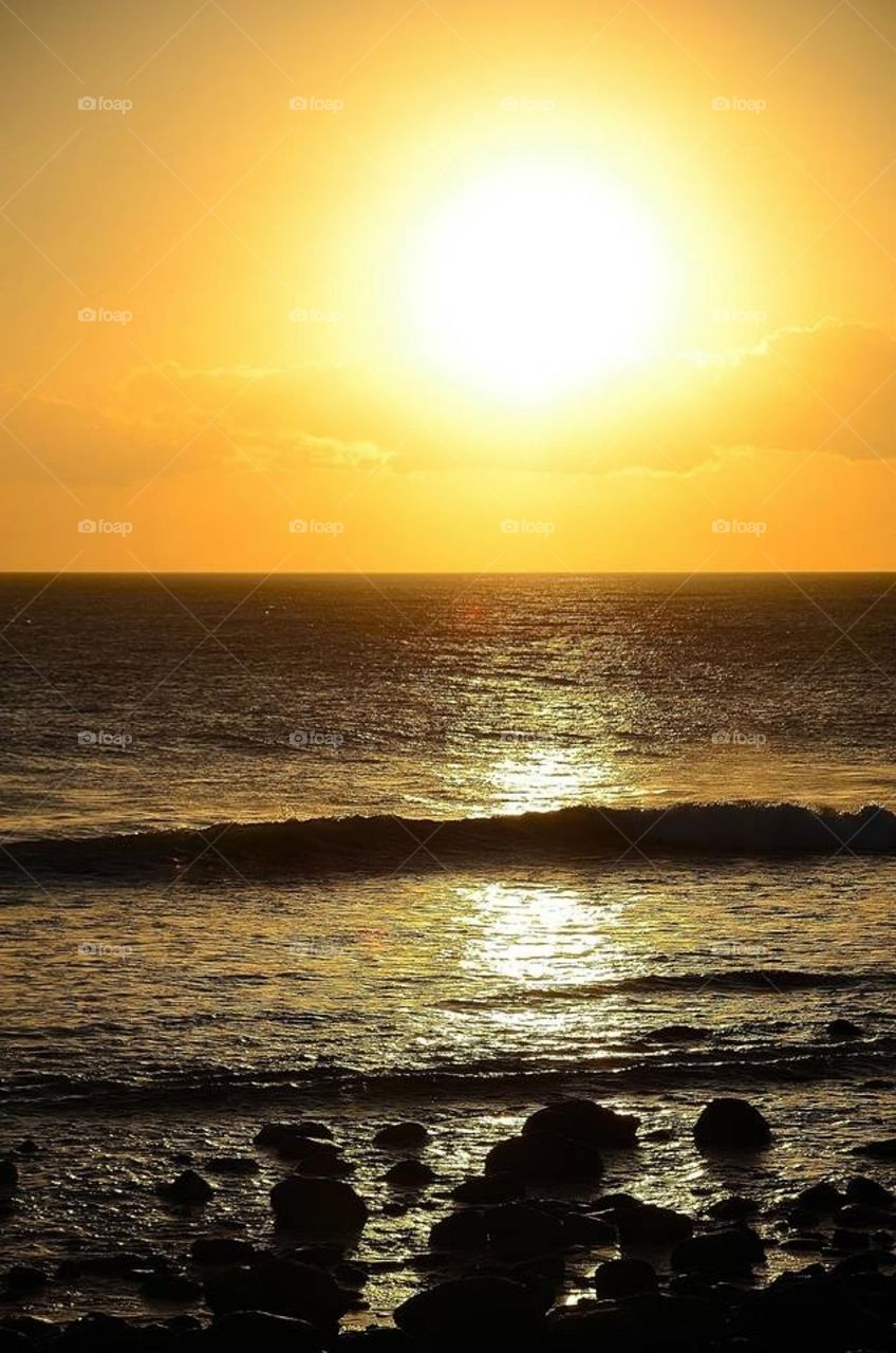 Yellow sunset
