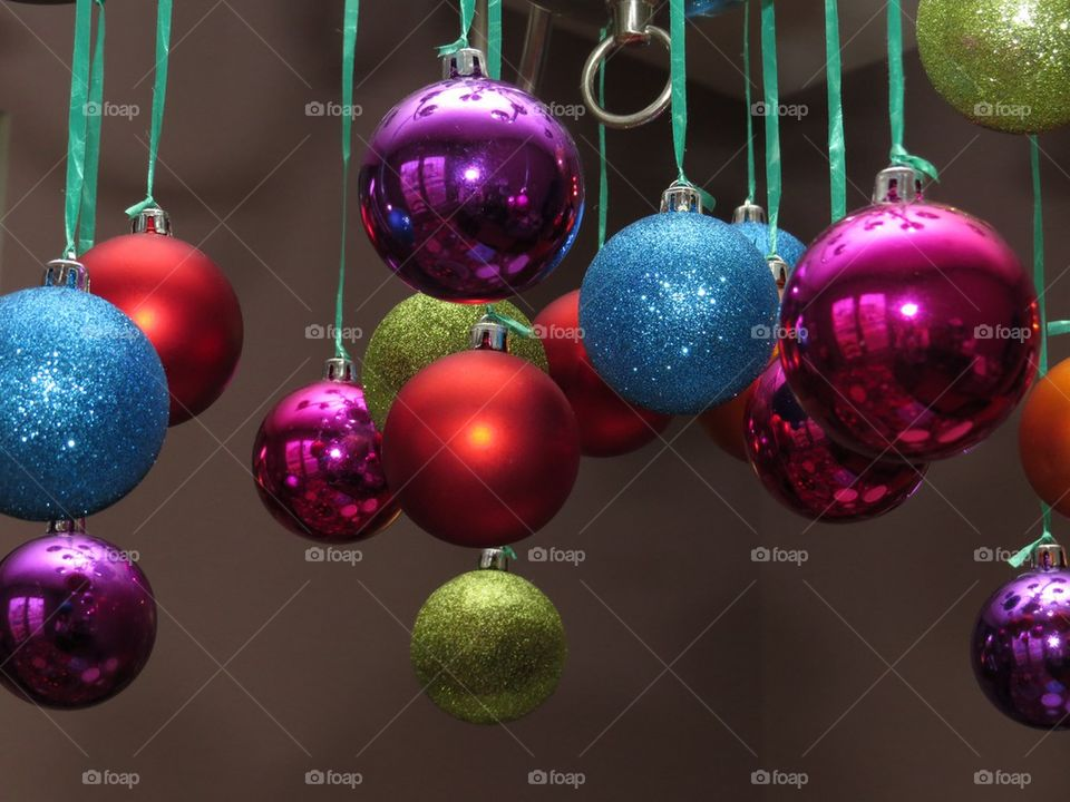 Christmas balls to decorate on a black background