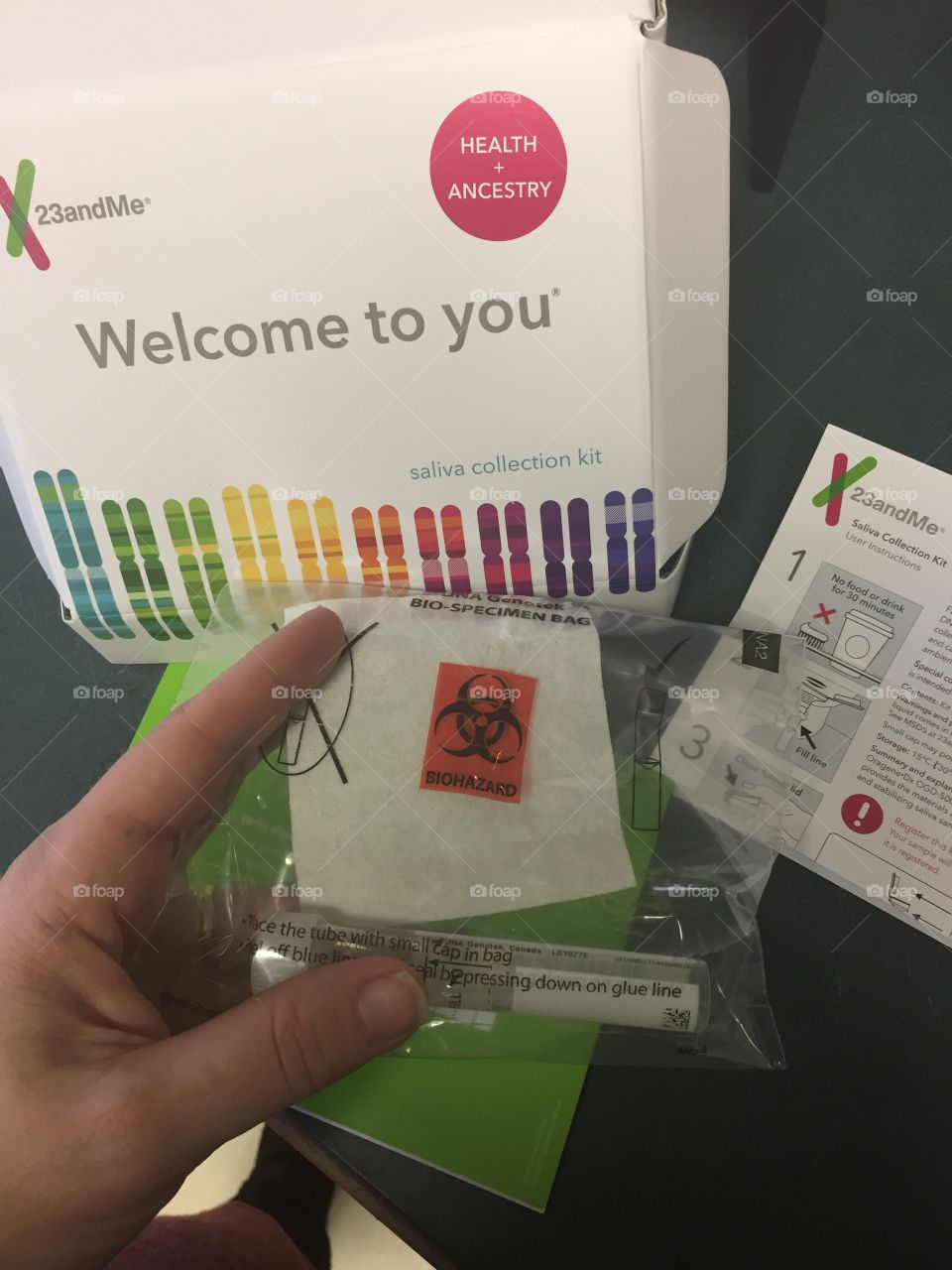 Mailing in my 23 and me DNA kit.