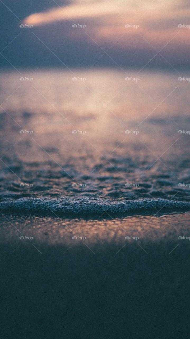 Watery beach