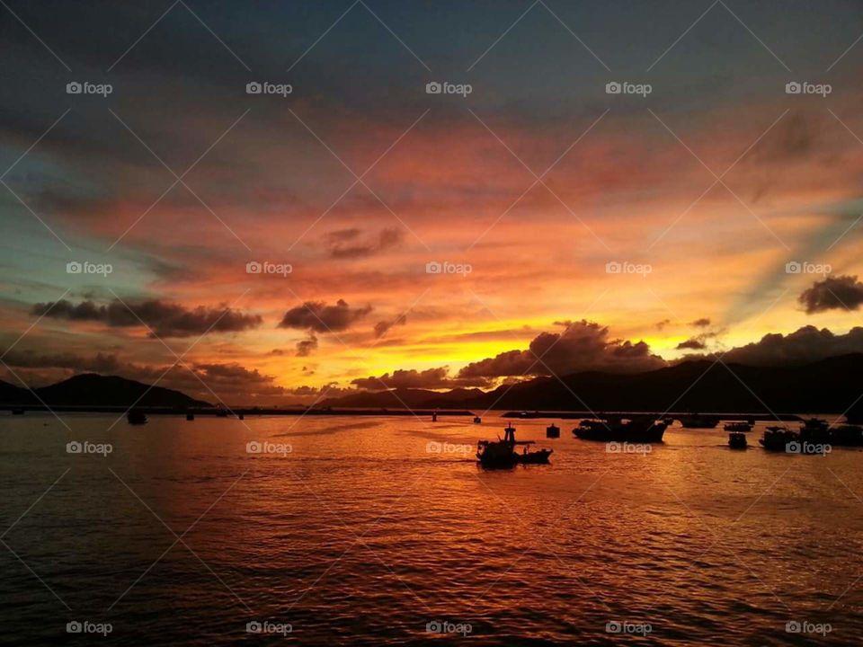 Summer Sunset from Cheung Chau Island