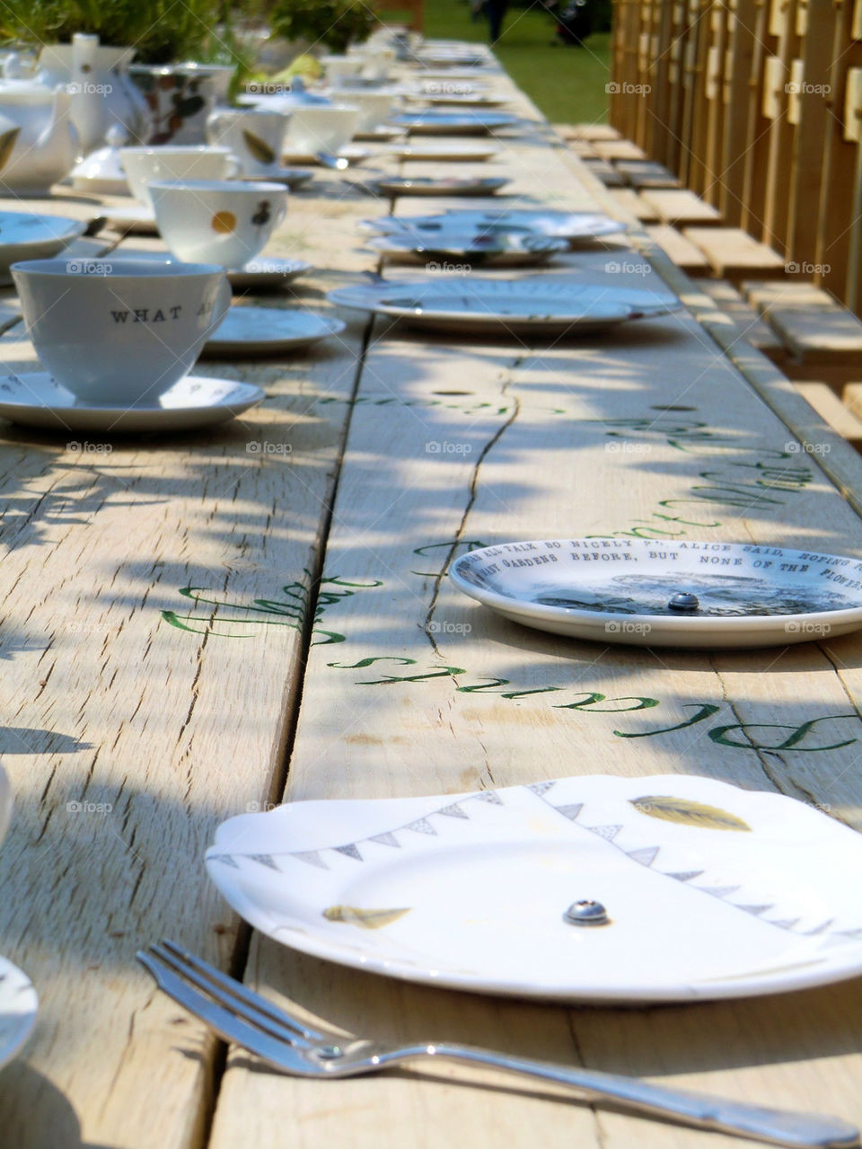 Table setting outdoor at the party