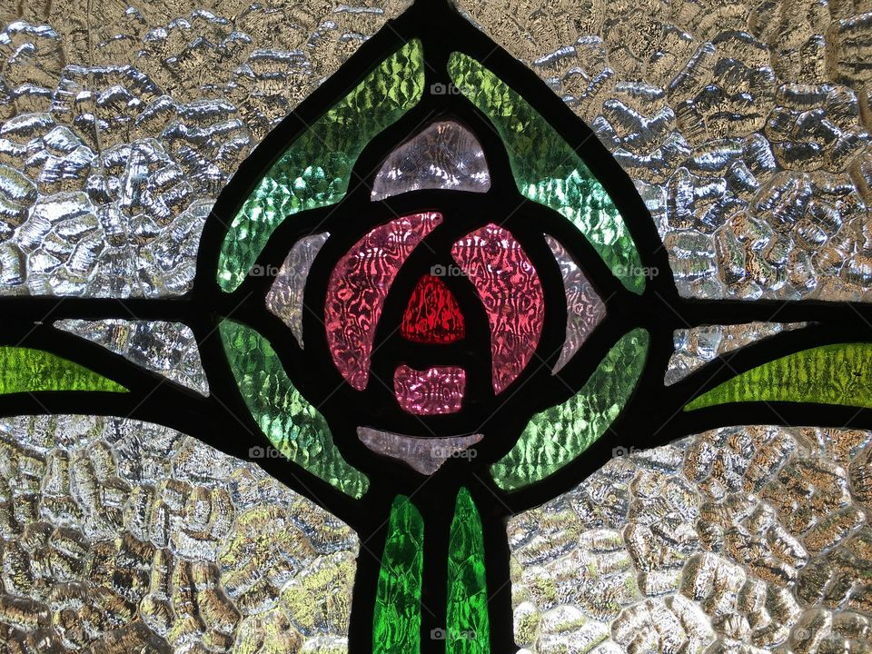 Stained glass textured window circa 1930s