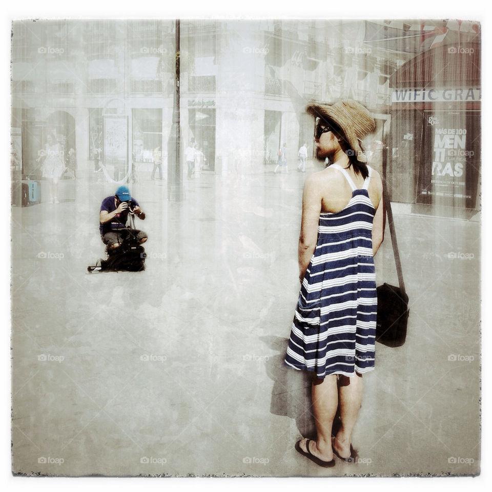 madrid street people woman by inmacasado