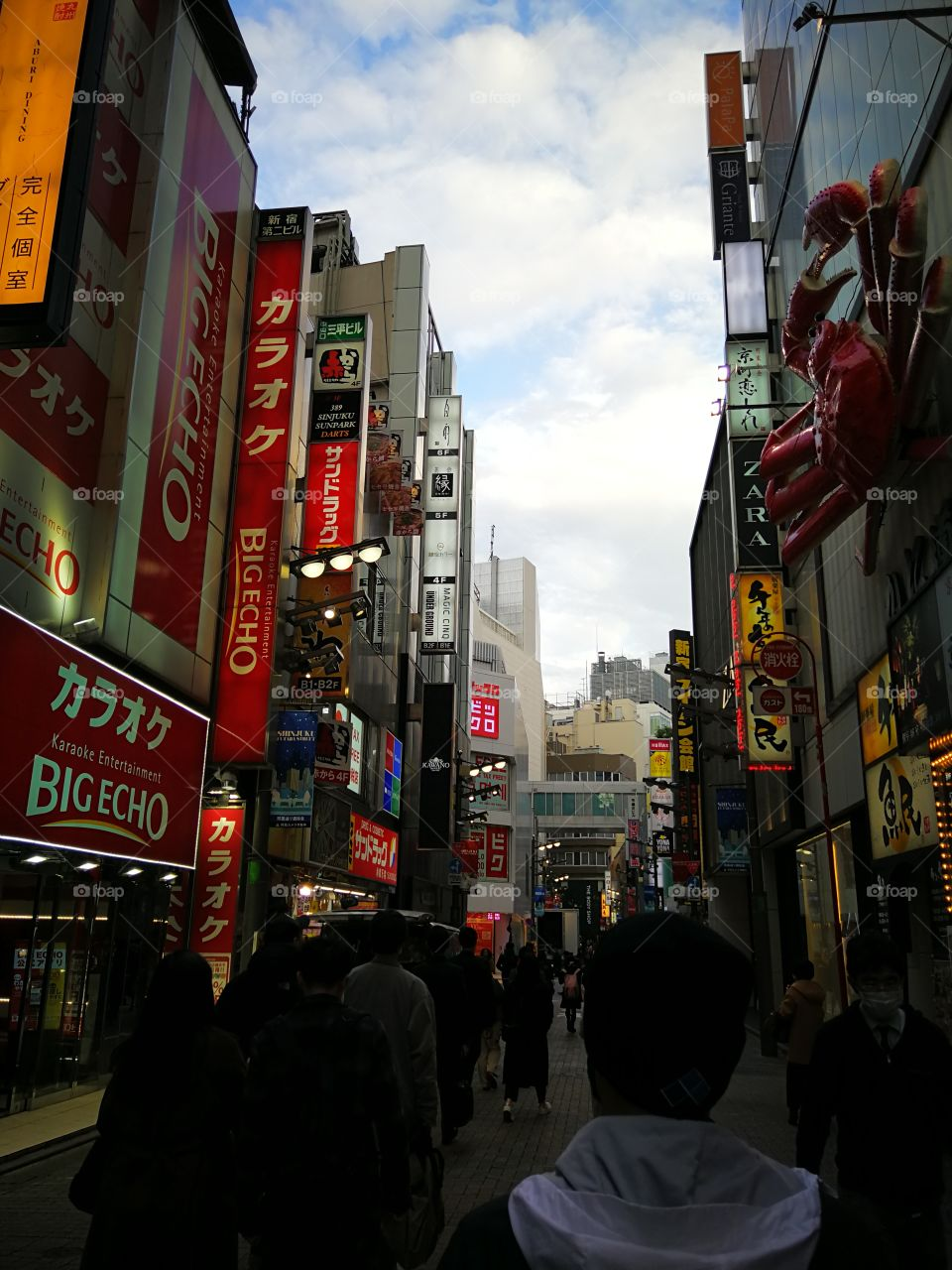 Walking in the streets of Japan