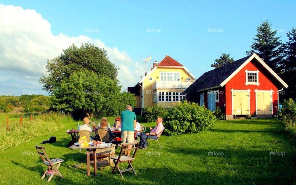A lovely summerday at Resø Gamla Skola