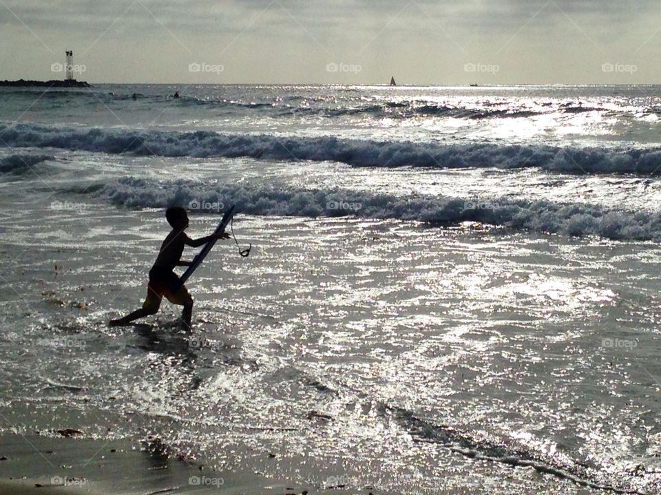 Boy at Mission Beach